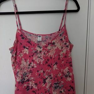 Old Navy Floral Drapey Tank Top